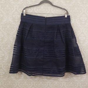 torrid Skirts - Torrid Striped Elastic Navy Full Skirt